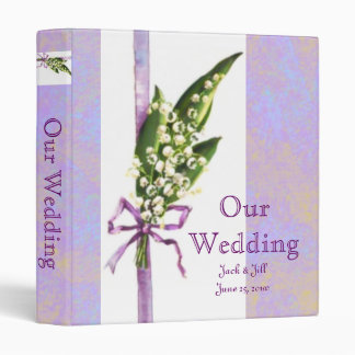 Lilly of the Valley Our Wedding binder