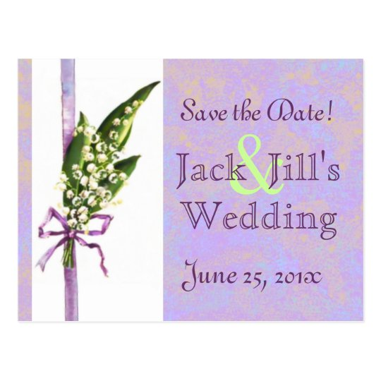 Lilly of the Valley SAVE THE DATE postcard