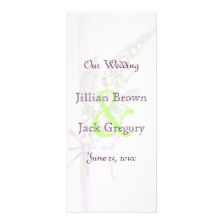 Lilly of the Valley Wedding Program Personalized Rack Card
