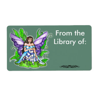 Lilly Pad Fairy Book Label