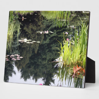 Lilly Pad Reflection Pond Japanese Plaque