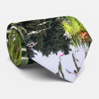 Lilly Pad Reflection Pond Japanese Tie