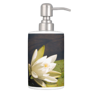 Lilly Pad Soap Dispenser And Toothbrush Holder