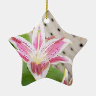 Lilly para una curación… Conciencia del cáncer de  Ornamento De Reyes Magos