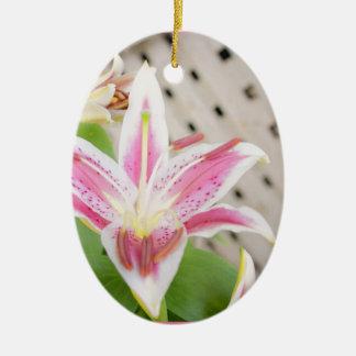 Lilly para una curación… Conciencia del cáncer de  Ornamentos De Reyes Magos