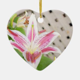 Lilly para una curación… Conciencia del cáncer de  Adornos De Navidad