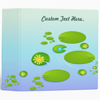 Lilly Pond 3 Ring Binder