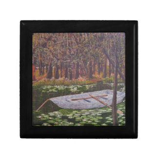 Lilly Pond with Row Boat Gift Box