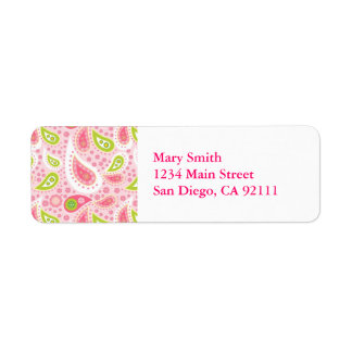 Lilly Pulitzer Inspired Return Address labels
