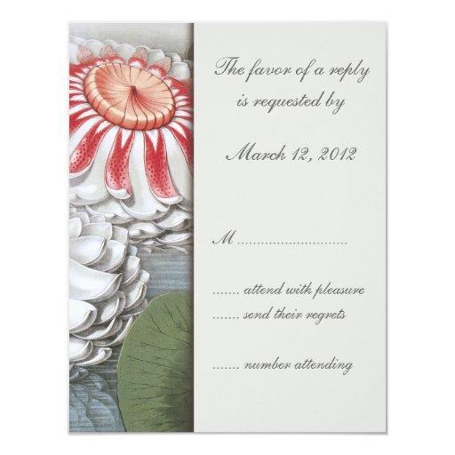 Lilly rellena la invitación RSVP del boda