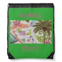Lilly School Bag/Back Pack Drawstring Bag