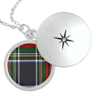 Lilly Scottish Tartan Locket Necklace