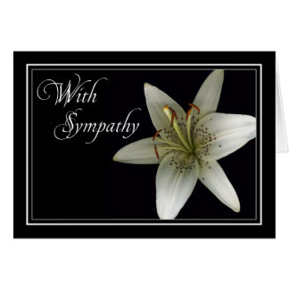 Lilly Sympathy/Condolence Car Greeting Card