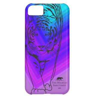 Lilly - Tiger Stencil iPhone 5 Case Purple/Blue
