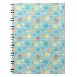 LilMonster FUN DOTS POLKADOTS YELLOW BLUES ORANGE Spiral Note Books