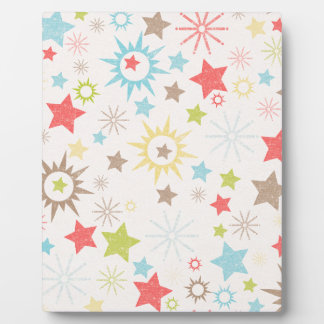 LilMonster FUN STARS SUNS LIME GREEN REDS CREAM NE Display Plaques