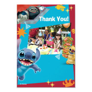 Lilo and Stitch Birthday Thank You Cards Custom Invitations