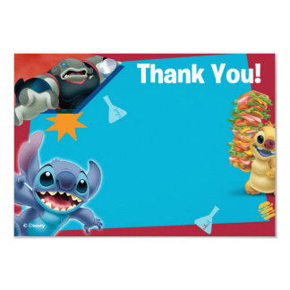 Lilo and Stitch Thank You Cards Announcement