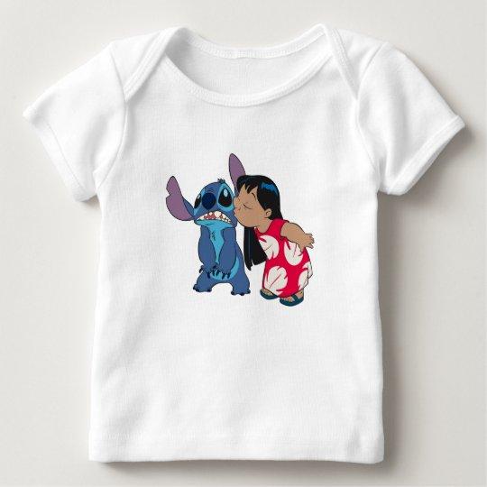 Lilo kisses Stitch Baby T-Shirt