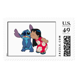 Lilo kisses Stitch Postage Stamps