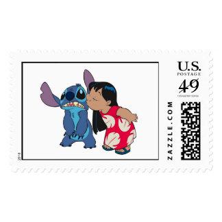 Lilo kisses Stitch Postage Stamps