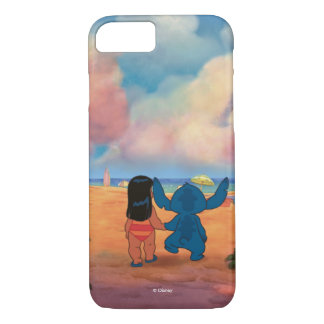 Lilo & Stich |Lilo & Stitch At The Beach iPhone 7 Case