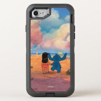 Lilo & Stich |Lilo & Stitch At The Beach OtterBox Defender iPhone 7 Case