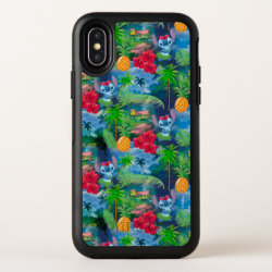Lilo & Stich | Stitch Pattern OtterBox Symmetry iPhone X Case
