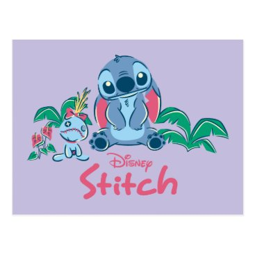 Disney Themed Lilo & Stich | Stitch & Scrump Postcard