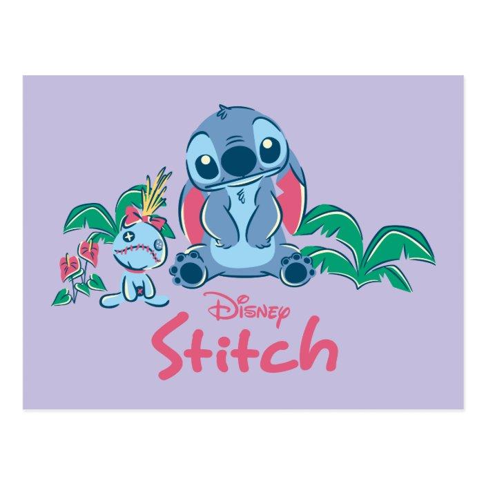 Lilo Stich Stitch Scrump Postcard Zazzle Com