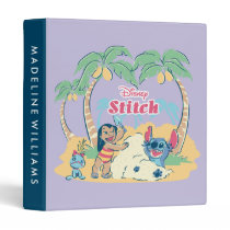 Lilo & Stitch   Come visit the islands! 3 Ring Binder
