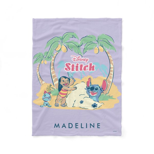 Lilo & Stitch | Come visit the islands! Fleece Blanket