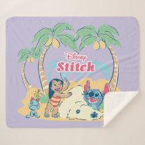 Lilo & Stitch | Come visit the islands! Sherpa Blanket