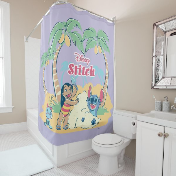 Lilo & Stitch | Come visit the islands! Shower Curtain
