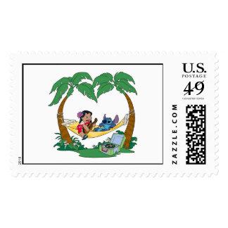 Lilo & Stitch Lilo Stitch on a hammock Postage Stamp
