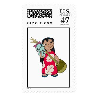 Lilo & Stitch Lilo with red flowered muumuu mumu Postage