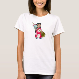 Lilo & Stitch Lilo with red flowered muumuu mumu T-Shirt