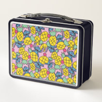 Lilo & Stitch | Monogram Pineapple Pattern Metal Lunch Box
