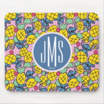 Lilo & Stitch | Monogram Pineapple Pattern Mouse Pad
