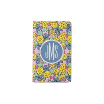 Lilo & Stitch   Monogram Pineapple Pattern Pocket Moleskine Notebook