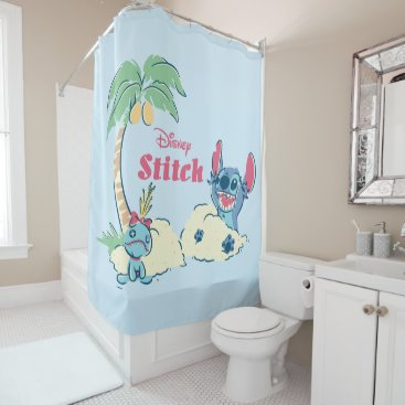 Disney Themed Lilo & Stitch | Ohana Means Family Shower Curtain