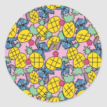 Lilo & Stitch | Pineapple Pattern Classic Round Sticker