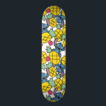 "Lilo & Stitch | Pineapple Pattern Skateboard Deck<br><div class=""desc"">Disney Fun Fashion. Stitch included with pineapples in a fun summery pattern.</div>"