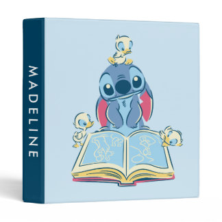 Lilo & Stitch | Reading the Ugly Duckling 3 Ring Binder