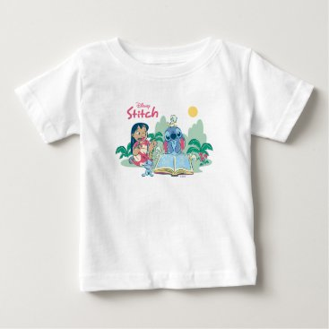 Disney Themed Lilo & Stitch | Reading the Ugly Duckling Baby T-Shirt