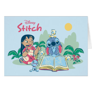 Lilo & Stitch | Reading the Ugly Duckling Card