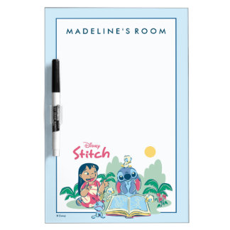 Lilo & Stitch | Reading the Ugly Duckling Dry Erase Board