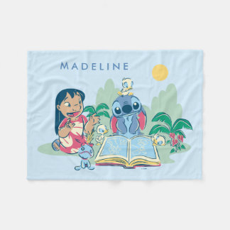 Lilo & Stitch | Reading the Ugly Duckling Fleece Blanket