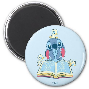 Disney Themed Lilo & Stitch | Reading the Ugly Duckling Magnet