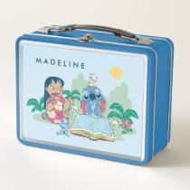 Lilo & Stitch | Reading the Ugly Duckling Metal Lunch Box